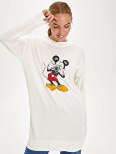 Mickey Mouse Baskılı Triko Tunik