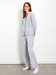 Çiçek Desenli Pamuklu Pijama Takımı
