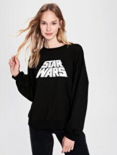 Star Wars Baskılı Sweatshirt