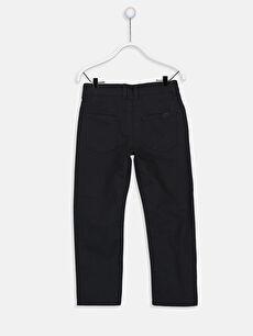 %100 Pamuk Pantolon Düz Gabardin Aksesuarsız Standart Normal Bel Astarsız Beş Cep Erkek Çocuk Gabardin Pantolon