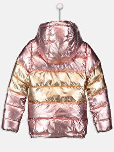 %100 Polyester %100 Polyester Orta Kalınlık Gizli Kapüşon Polar Astar Düz Mont Kız Çocuk Kapüşonlu Şişme Mont