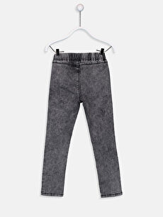 %81 Pamuk %17 Polyester %2 Elastan Normal Bel Dar Jean Kız Çocuk Skinny Jean Pantolon