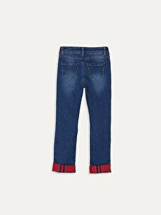 %99 Pamuk %1 Elastan Normal Bel Standart Kız Çocuk Jean Pantolon