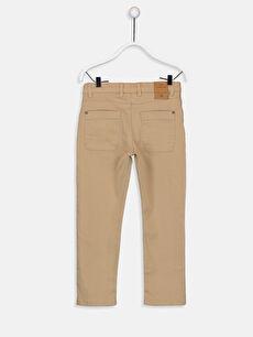 %98 Pamuk %2 Elastan Normal Bel Astarsız Dar Beş Cep Pantolon Düz Gabardin Aksesuarsız Erkek Çocuk Slim Gabardin Pantolon