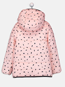 %100 Polyester Mont Orta Kız Çocuk Çift Taraflı Şişme Mont