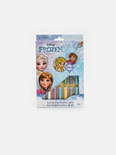 Kız Çocuk Frozen Baskılı Oyun Kum Boyama Seti
