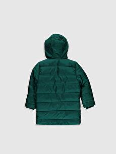 %100 Polyester %100 Polyester Standart Şişme Mont Günlük Orta Kalınlık Tafetta Polar Astar Düz Erkek Çocuk Kapüşonlu Kaban