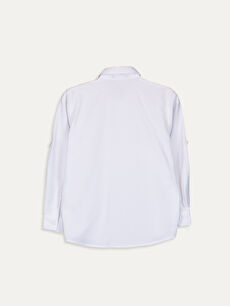 %58 Pamuk %42 Polyester %100 Polyester Standart Uzun Kol Düz Erkek Çocuk Armürlü Gömlek ve Papyon