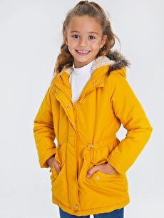 Sarı Kız Çocuk Kapüşonlu Kaban 9W6144Z4 LC Waikiki