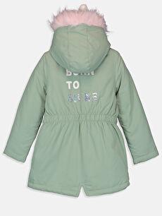 %100 Polyester %100 Polyester Polar Astar Düz Kaban Midi Aksesuarsız Orta Kalınlık Kız Çocuk Kapüşonlu Kaban