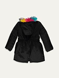 %100 Polyester %100 Polyester Polar Astar Düz Kaban Aksesuarsız Kalın Uzun Kız Çocuk Kapüşonlu Kalın Kaban