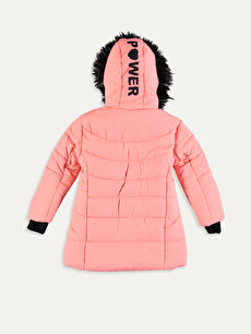 %100 Polyester %100 Polyester Polar Astar Düz Kaban Midi Aksesuarsız Kalın Kız Çocuk Kapüşonlu Kalın Kaban