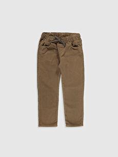 Kahverengi Erkek Çocuk Kadife Pantolon 9W7612Z4 LC Waikiki