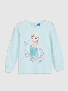 Kız Çocuk Kız Çocuk Elsa Pamuklu Pijama Takımı