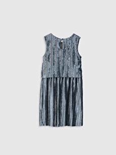 %93 Polyester %7 Elastan %100 Pamuk Mini Düz Kız Çocuk Pileli Kadife Elbise