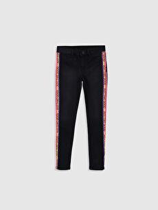 Siyah Kız Çocuk Slim Jean Pantolon 9WH194Z4 LC Waikiki
