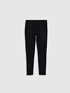 %80 Pamuk %18 Polyester %2 Elastan Normal Bel Astarsız Dar Jean Düz Aksesuarsız Dar Paça Kız Çocuk Slim Jean Pantolon