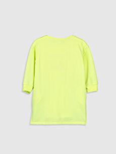 %50 Pamuk %50 Polyester Mini Baskılı Kız Çocuk Sweatshirt Elbise