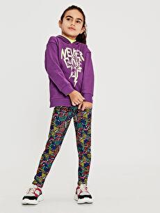 Kız Çocuk Desenli Uzun Tayt