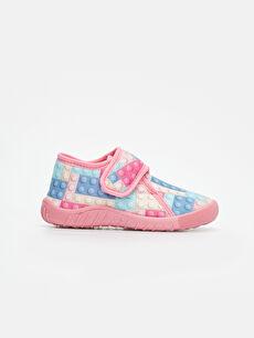 Çok Renkli Kız Çocuk Ev Ayakkabısı 9WI977Z4 LC Waikiki