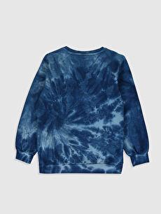 %82 Pamuk %18 Polyester  Erkek Çocuk Batik Desenli Sweatshirt