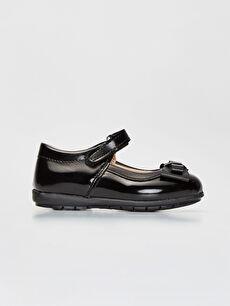 Siyah Kız Çocuk Cırt Cırtlı Babet Ayakkabı 9WJ782Z4 LC Waikiki