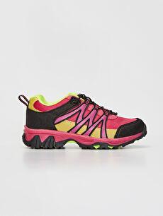 Pembe Kız Çocuk Kontrast Renkli Trekking Ayakkabı 9WK106Z4 LC Waikiki