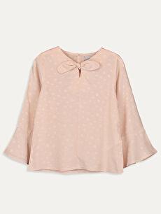Kız Çocuk Fiyonk Detaylı Viskon Bluz