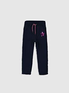 %100 Polyester %100 Polyester Normal Bel Standart Kız Çocuk Pul İşlemeli Pantolon