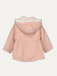 %100 Polyester %100 Polyester Mont Uzun Polar Kapüşonlu Kürk Astar Düz Kız Bebek Kapüşonlu Fermuarlı Mont
