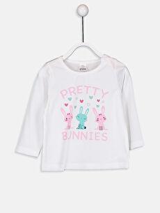 Kız Bebek Kız Bebek Desenli Pijama Takımı 4'lü