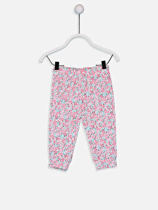 Kız Bebek Desenli Pijama Alt 2'li