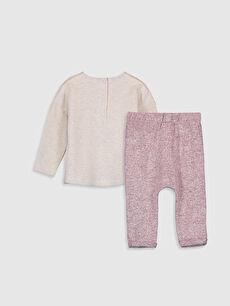 %96 Pamuk %4 Elastan  Kız Bebek Pijama Takımı