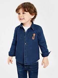 Erkek Bebek Jean Gömlek