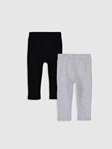 %88 Pamuk %7 Polyester %5 Elastan  Kız Bebek Pantolon 2'li