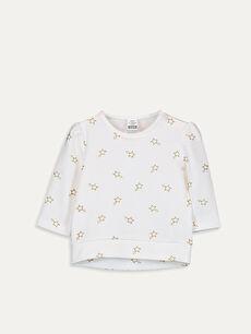 Pembe Kız Bebek Baskılı Pamuklu Tişört  9W7579Z1 LC Waikiki