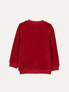 %78 Pamuk %22 Polyester Sweatshirt Kadife Kapüşonsuz Diğer Düz Kız Bebek Fermuarlı Sweatshirt