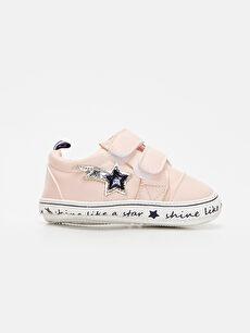 Pembe Kız Bebek Cırt Cırtlı Spor Ayakkabı 9WI527Z1 LC Waikiki