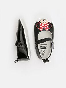 %0 Diğer malzeme (poliüretan) Işıksız Pamuk Astar Yürümeyen Minnie Mouse Cırt Cırt Kız Bebek Minnie Mouse Baskılı Ayakkabı