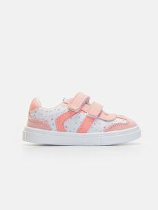 Beyaz Kız Bebek Cırt Cırtlı Spor Ayakkabı 9WI894Z1 LC Waikiki