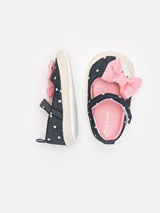 %0 Diğer malzeme (poliüretan) %0 Tekstil malzemeleri (%100 poliester)  Kız Bebek Puantiyeli Espadril Ayakkabı