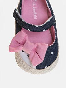 LC Waikiki Lacivert Kız Bebek Puantiyeli Espadril Ayakkabı