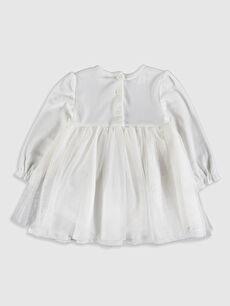 %93 Polyester %7 Elastan %91 Poliamid %9 Elastan %100 Pamuk Elbise Kız Bebek Elbise ve Saç Bandı