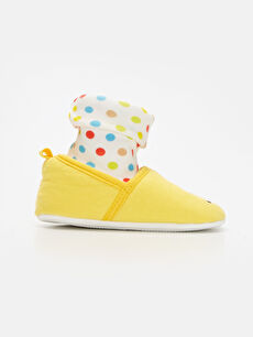 Sarı Kız Bebek Minnie Mouse Nakışlı Ev Ayakkabısı 9WN476Z1 LC Waikiki
