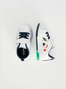 Diğer malzeme (poliüretan) Tekstil malzemeleri Kısa Sneaker Bağcık Pamuk Astar Spor Erkek Bebek Işıklı Günlük Spor Ayakkabı