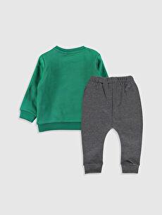 %58 Pamuk %42 Polyester %90 Pamuk %10 Polyester Kalın Standart Üç İplik İçi Tüylü Düz Takım Mickey Mouse Erkek Bebek Disney Baskılı Sweatshirt ve Pantolon