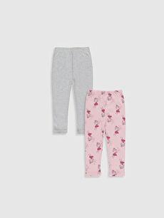 %100 Pamuk Ribana Standart Pijama Alt Kız Bebek Pijama Alt 2'li