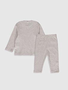 %45 Pamuk %51 Polyester %4 Elastan %45 Pamuk %51 Polyester %4 Elastan  Erkek Bebek Tişört ve Pantolon