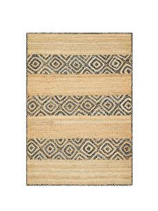 Kahverengi Dikdörtgen Desenli Jüt Halı 0SF401Z8 LC Waikiki
