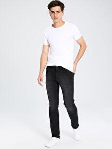 Siyah 750 Slim Fit Jean Pantolon 0S0163Z8 LC Waikiki
